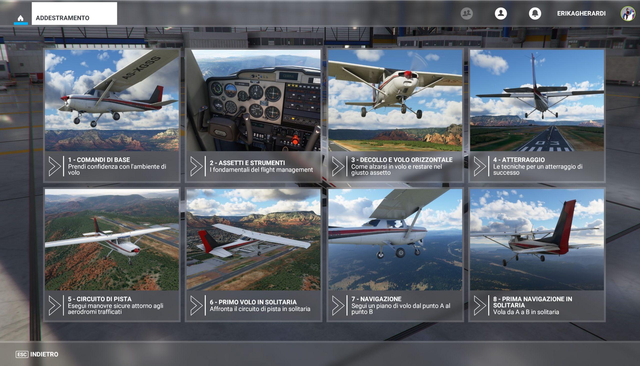 Microsoft Flight Simulator recensione addestramento