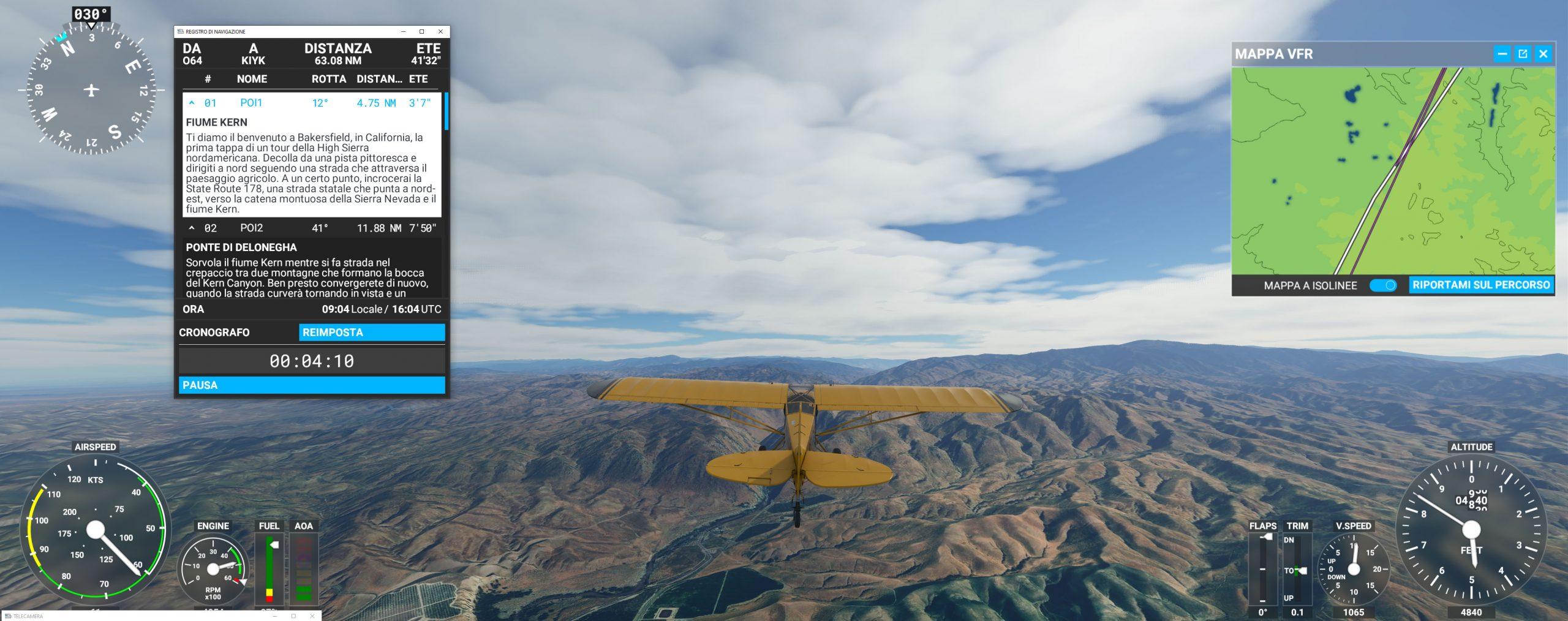 Microsoft Flight Simulator recensione escursione naturalistica