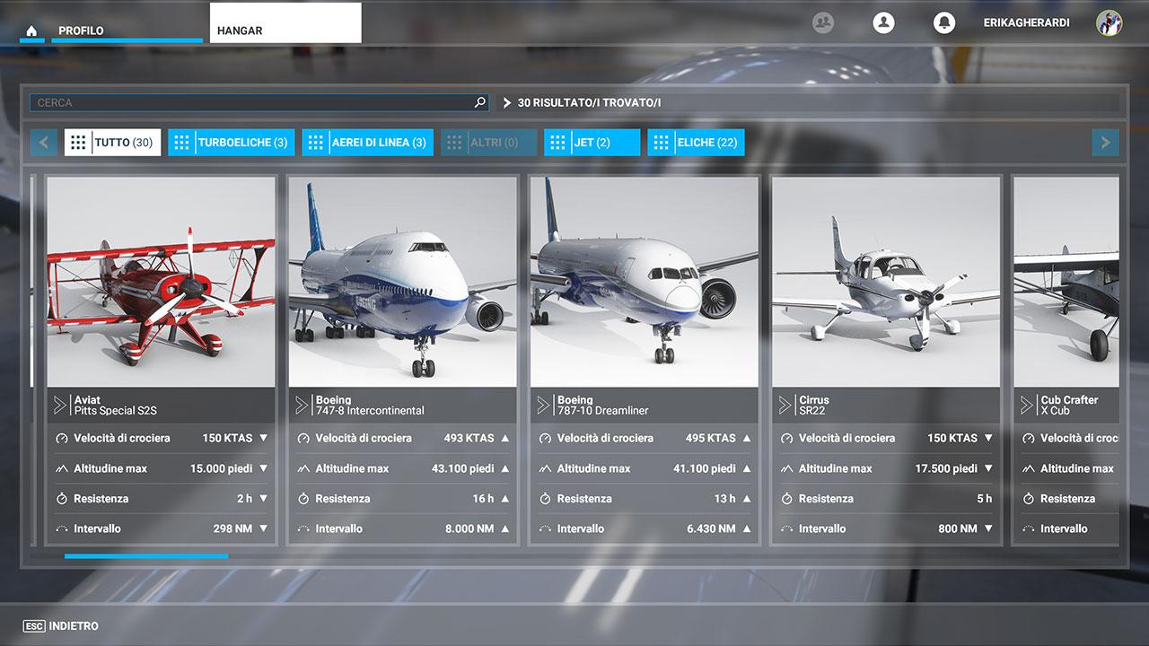 Microsoft Flight Simulator recensione hangar