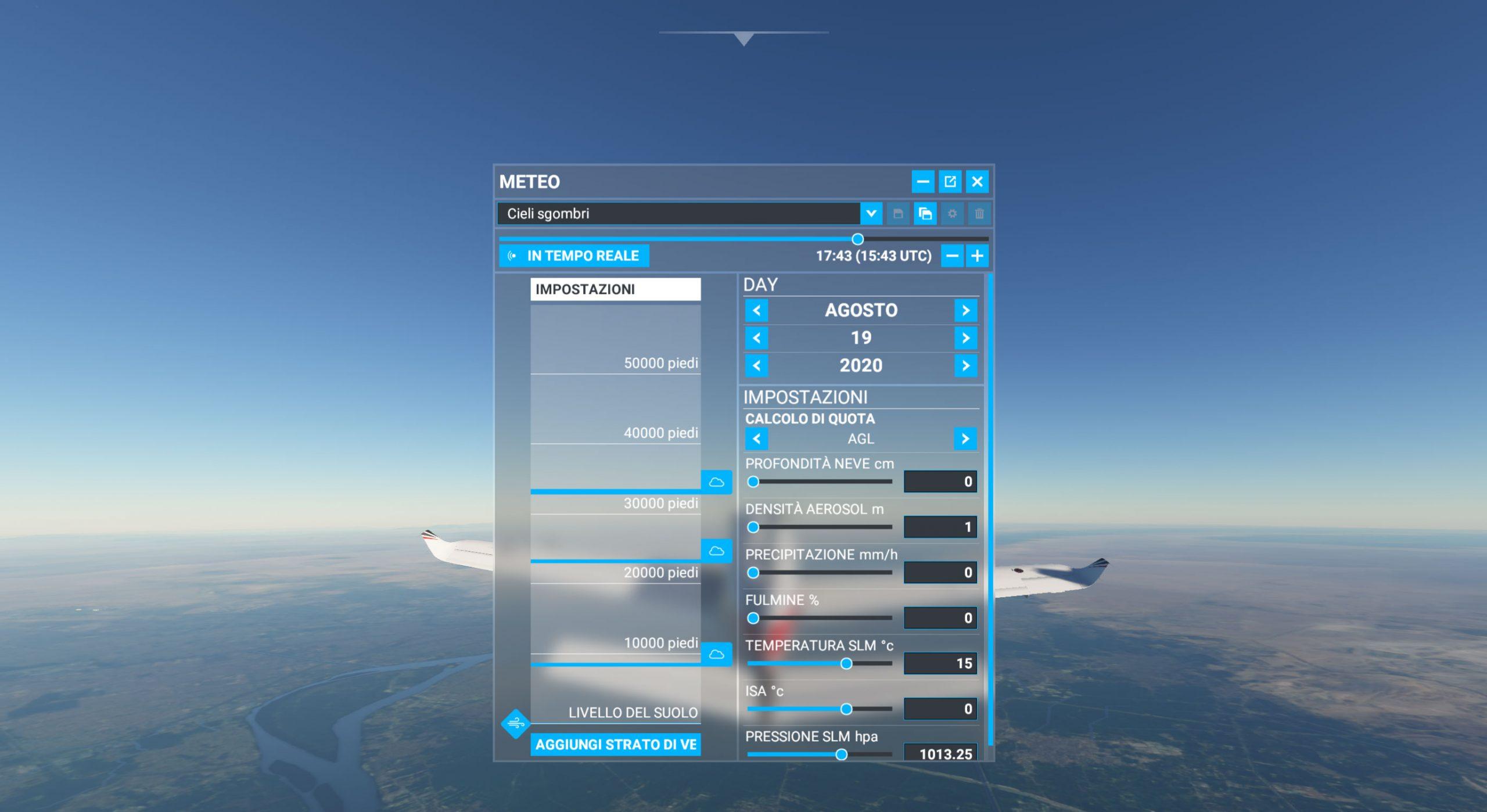 Microsoft Flight Simulator recensione meteo
