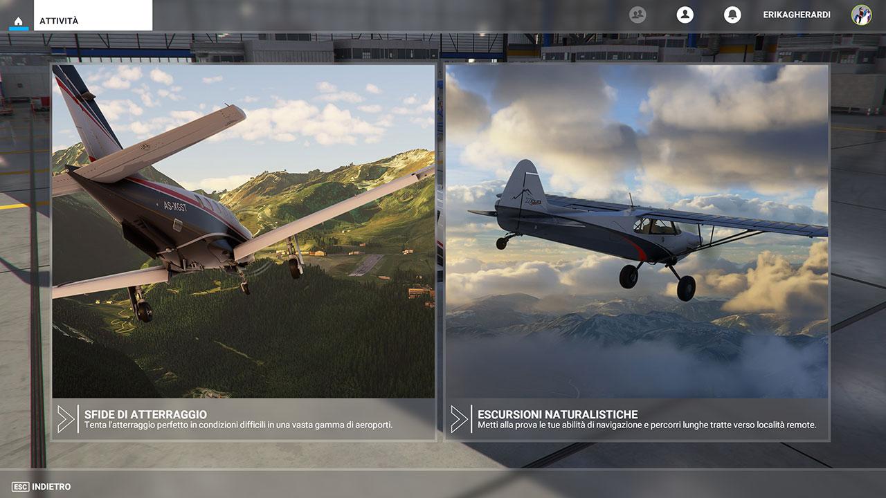 Microsoft Flight Simulator recensione sfide