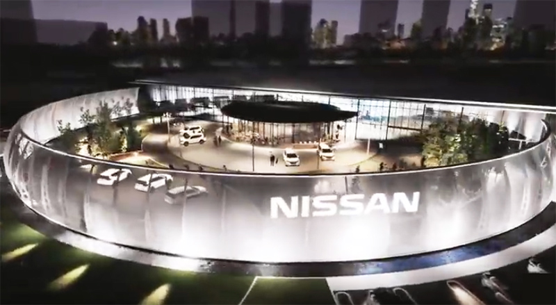 Nel Nissan Pavilion il parcheggio si paga cedendo l'elettricità del veicolo elettrico thumbnail