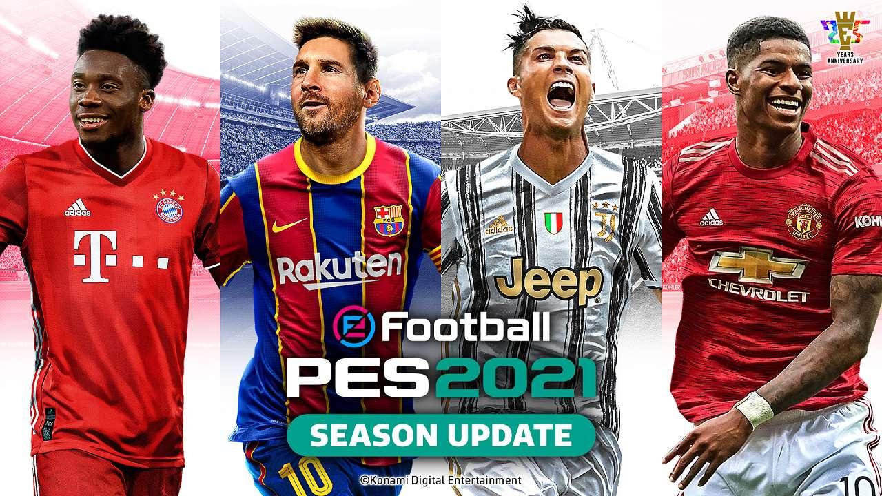 Messi e Ronaldo sulla copertina di eFootball PES 2021 thumbnail