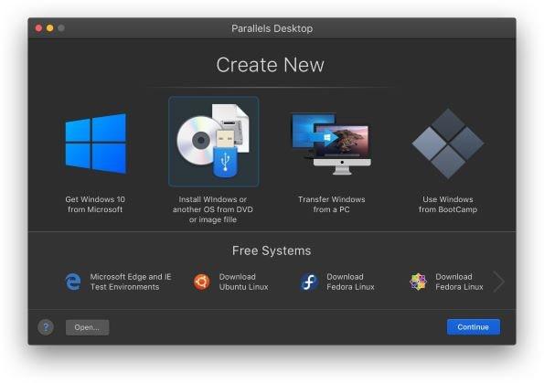 Parallels Desktop 16 for Mac dark