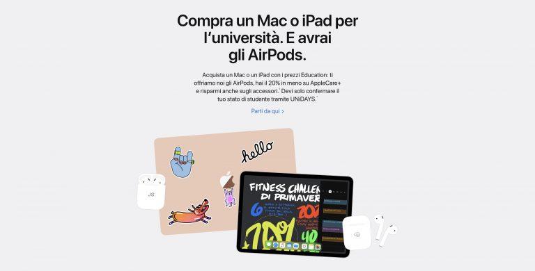 Prezzi Education Apple
