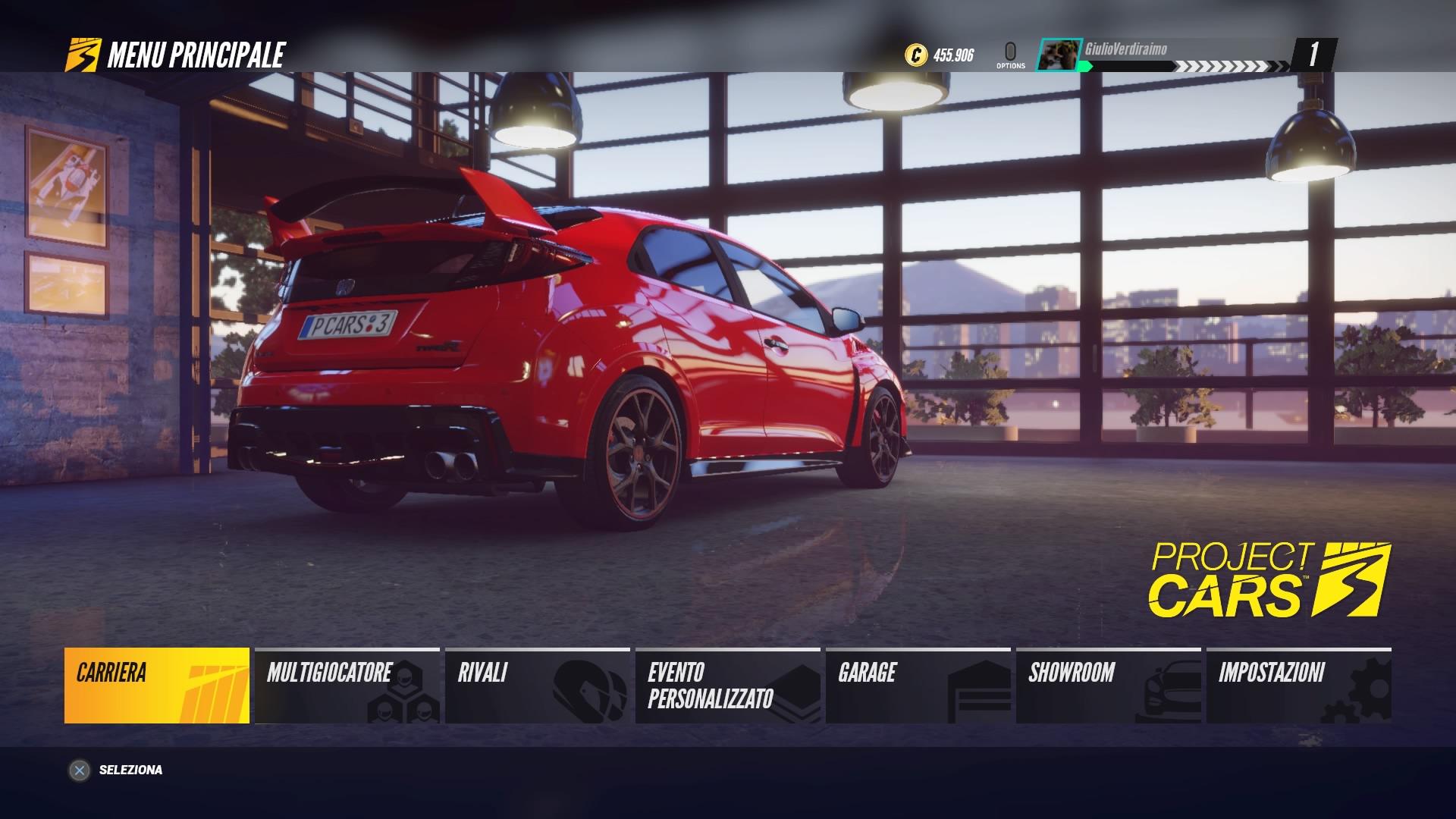 Project CARS 3 schermata iniziale