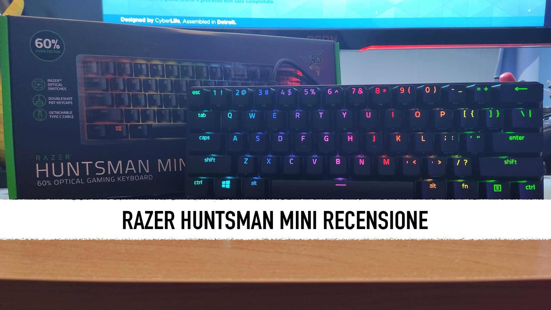 Razer Huntsman Mini: recensione - La perfezione in miniatura thumbnail