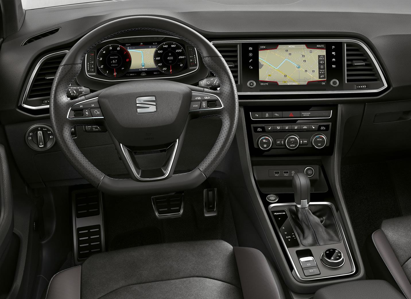 SEAT Ateca black edition interni