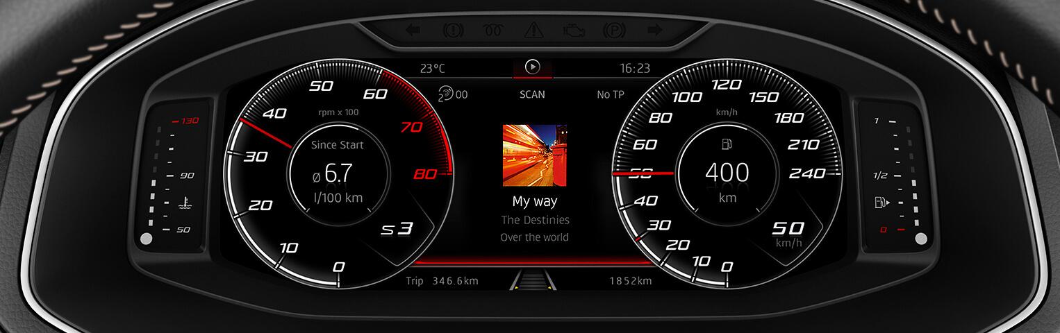 SEAT ibiza digital cockpit radio