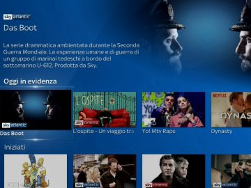 Sky Q interfaccia