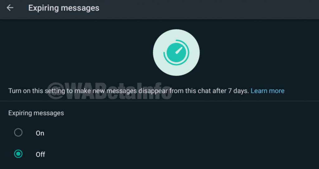 WhatsApp messaggi autodistruggono