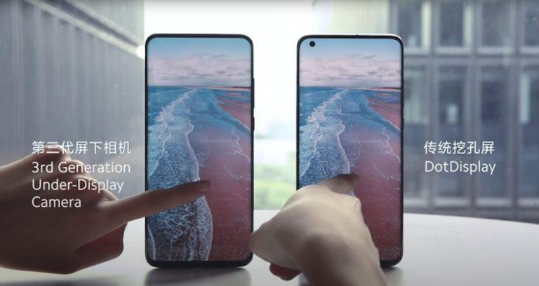 Xiaomi under-display camera