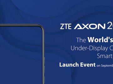 ZTE Axon 20 5G fotocamera sotto schermo copertina