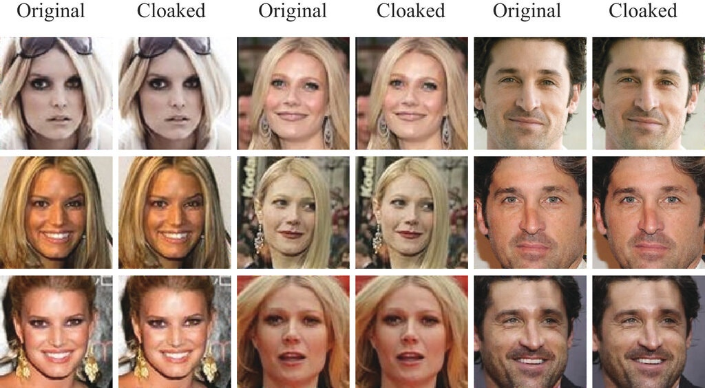 fawkes riconoscimento facciale esempi