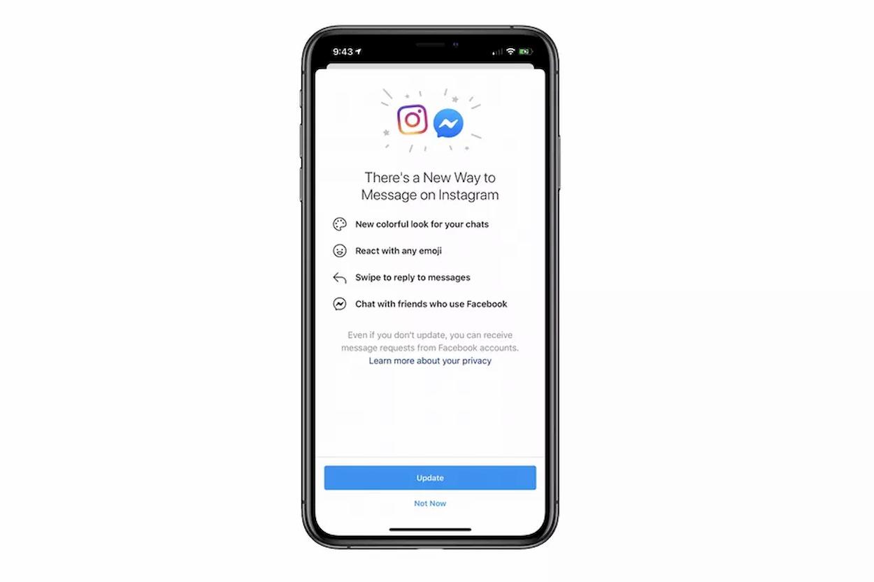 I messaggi di Instagram e Messenger cominciano a convergere thumbnail