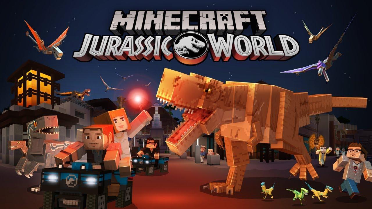 Minecraft, disponibile il nuovo DLC a tema Jurassic World thumbnail