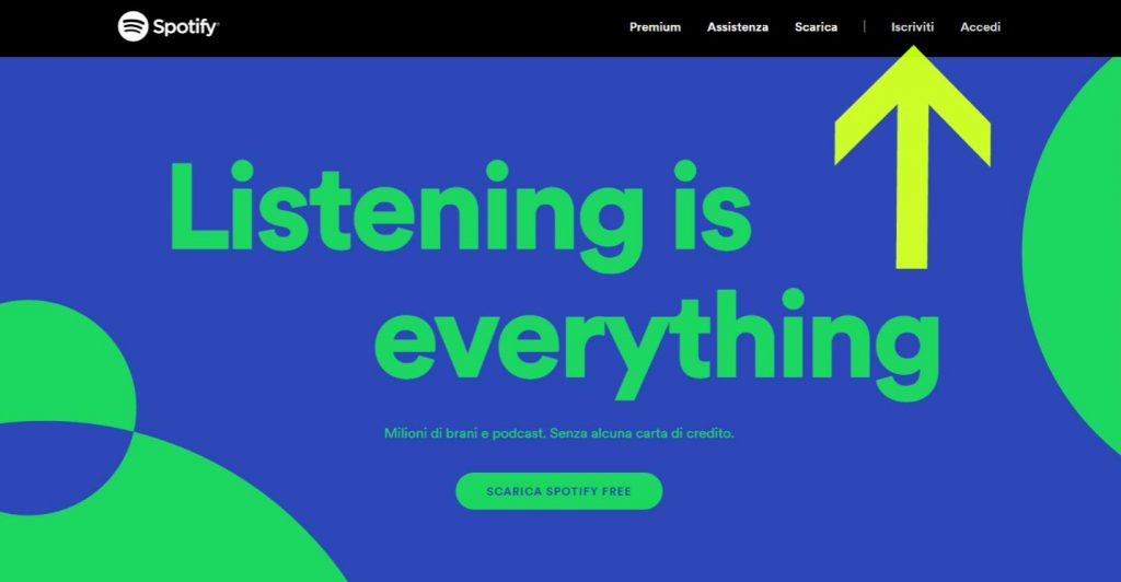Come ci si iscrive a Spotify?