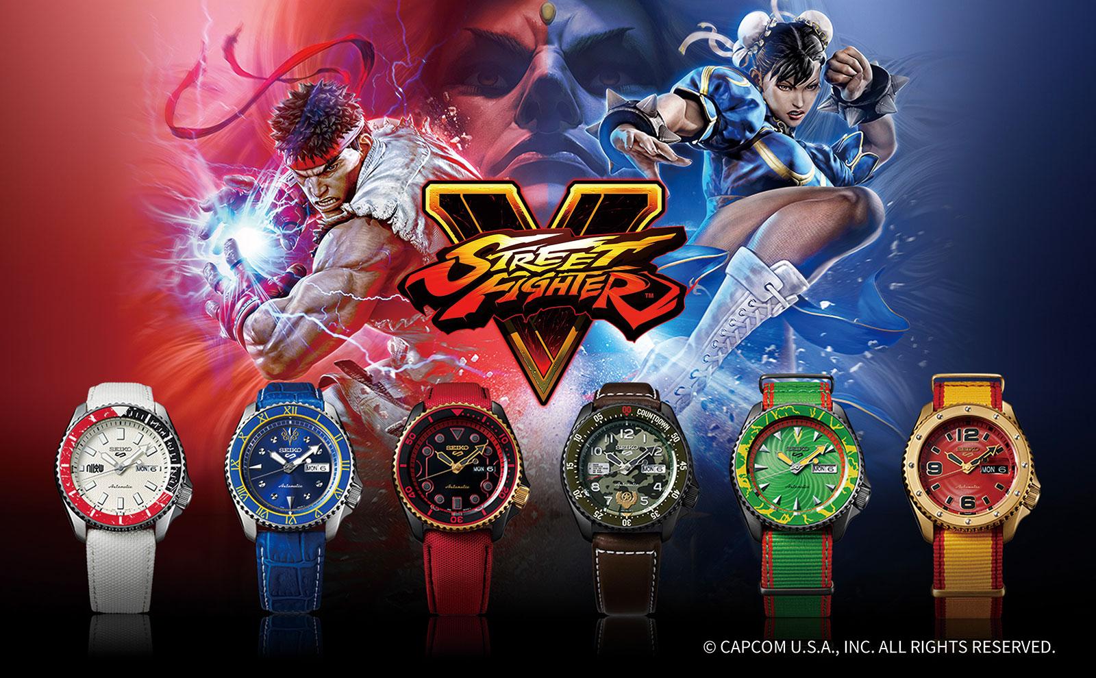 Seiko presenta i nuovi orologi a tema Street Fighter thumbnail