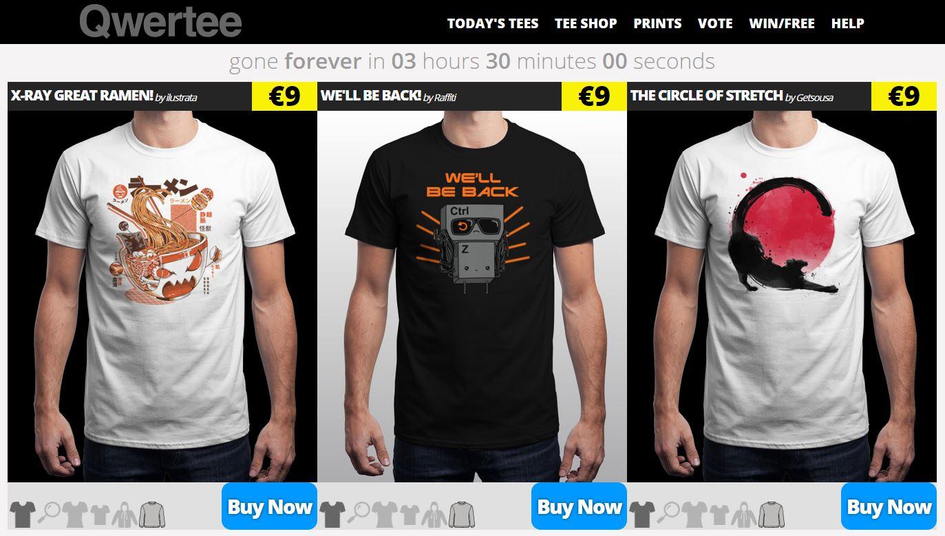 t-shirt nerd Qwertee