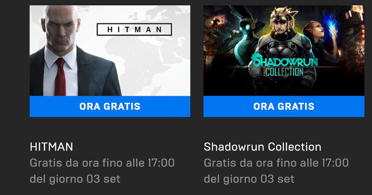 Hitman e Shadowrun sono i nuovi giochi gratis sull'Epic Games Store thumbnail