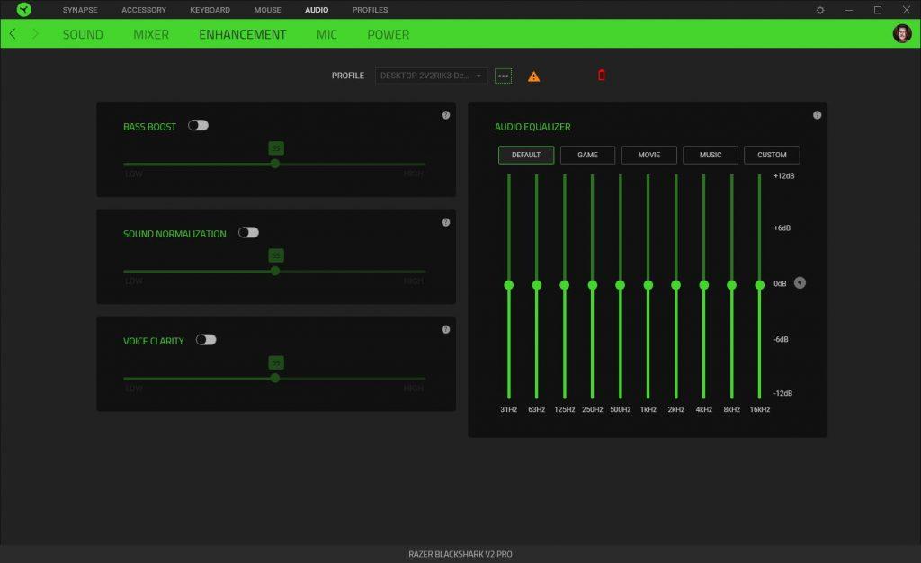 Razer Synapse audio