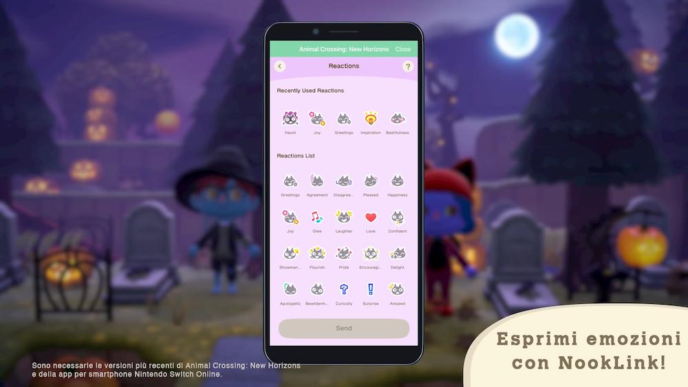 Animal Crossing Halloween emozioni NookLink
