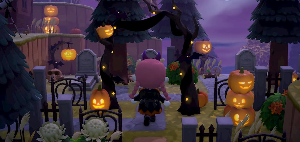 Zucche e costumi per celebrare Halloween in Animal Crossing thumbnail