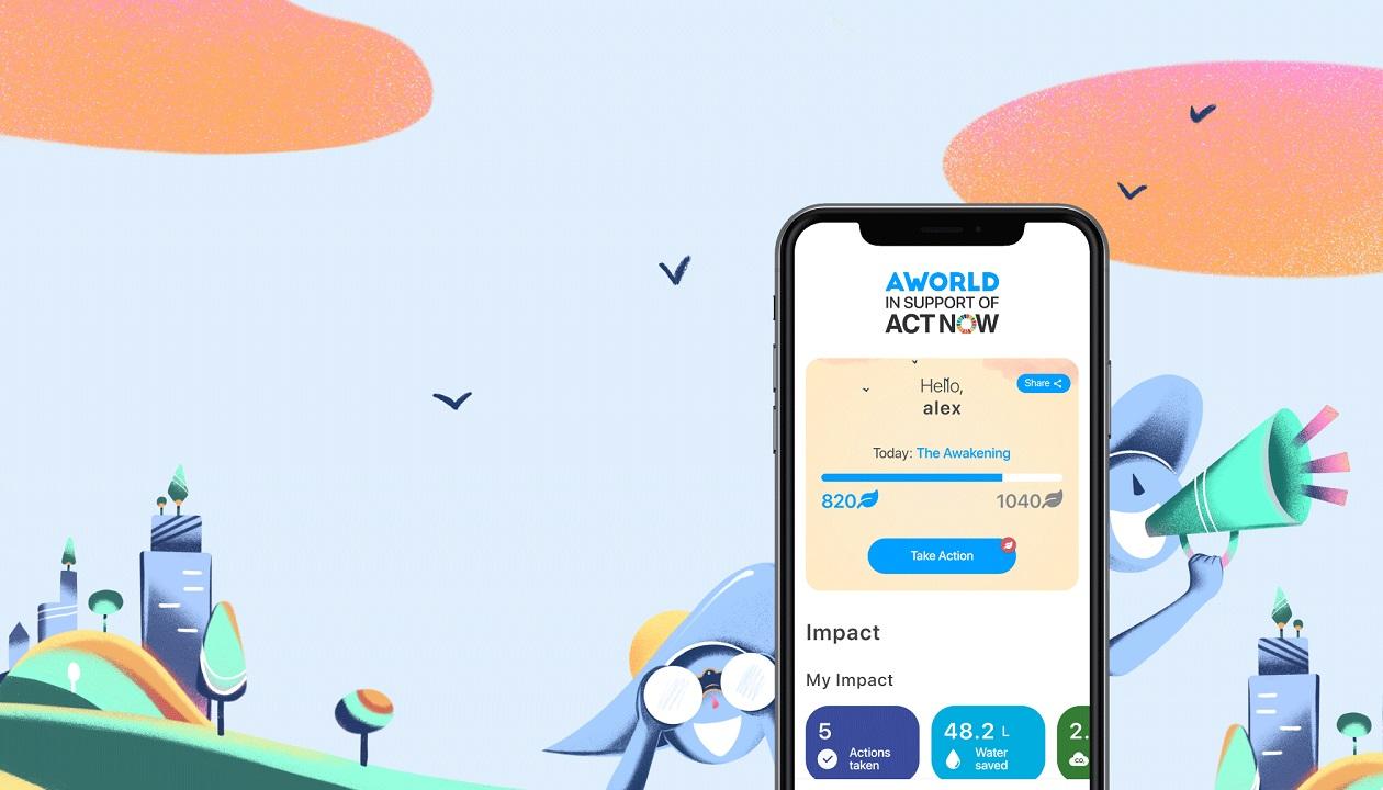La startup italiana Aworld supporta la campagna ActNow dell'ONU thumbnail