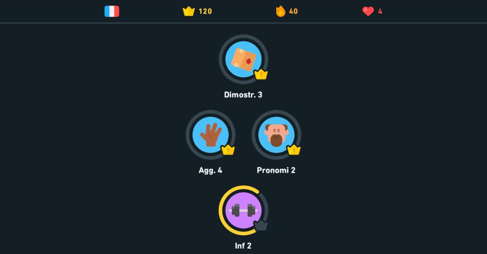 Duolingo lezioni