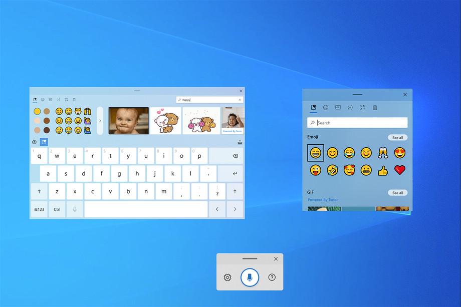 Windows 10, arriva la nuova tastiera touch con GIF ed emoji thumbnail