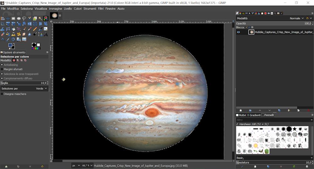 GIMP interfaccia esempio