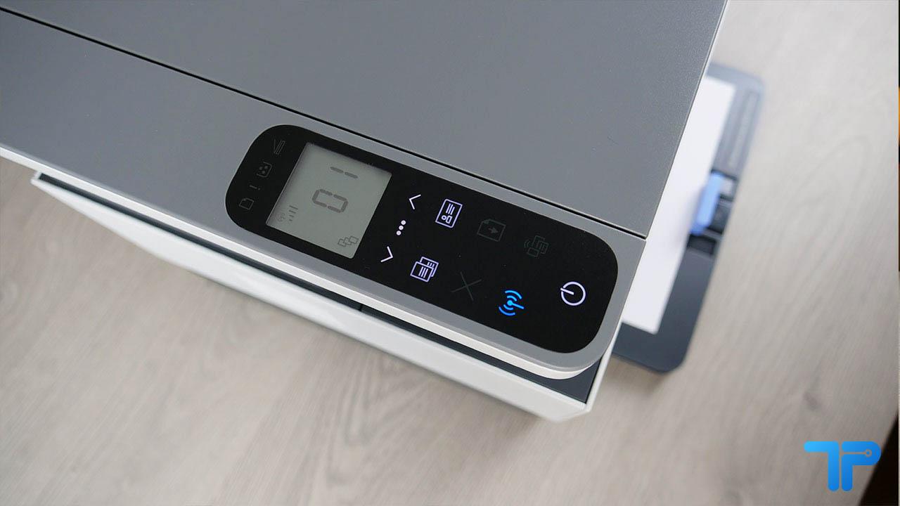 HP Neverstop Laser 1202nw recensione display