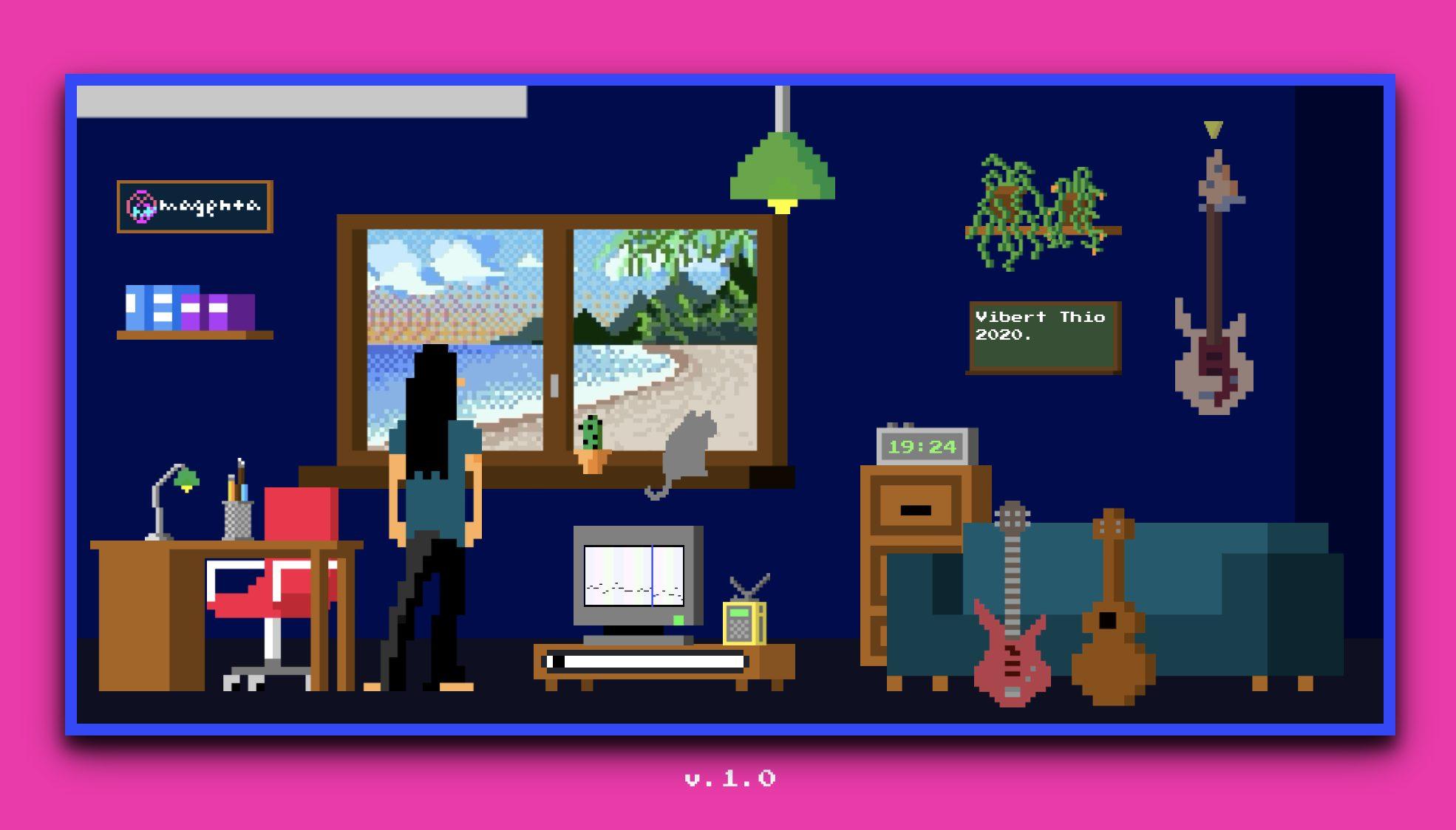 Lo-Fi Player, lo studio in 2D per mixare musica con l'intelligenza artificiale thumbnail