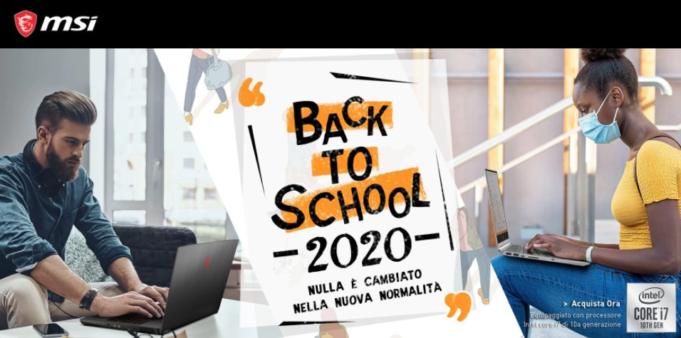 MSI Back to School, tanti sconti e promozioni sull'acquisto di laptop thumbnail