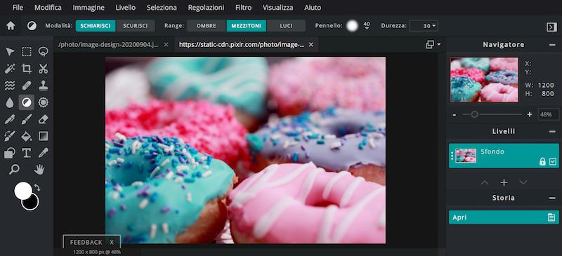 PIXLR X E migliori siti modificare foto