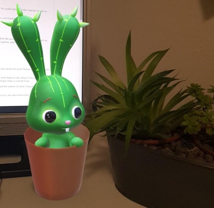 Snapchat cactus rabbit