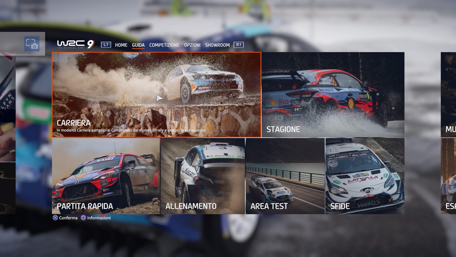 WRC 9 modalità singolo