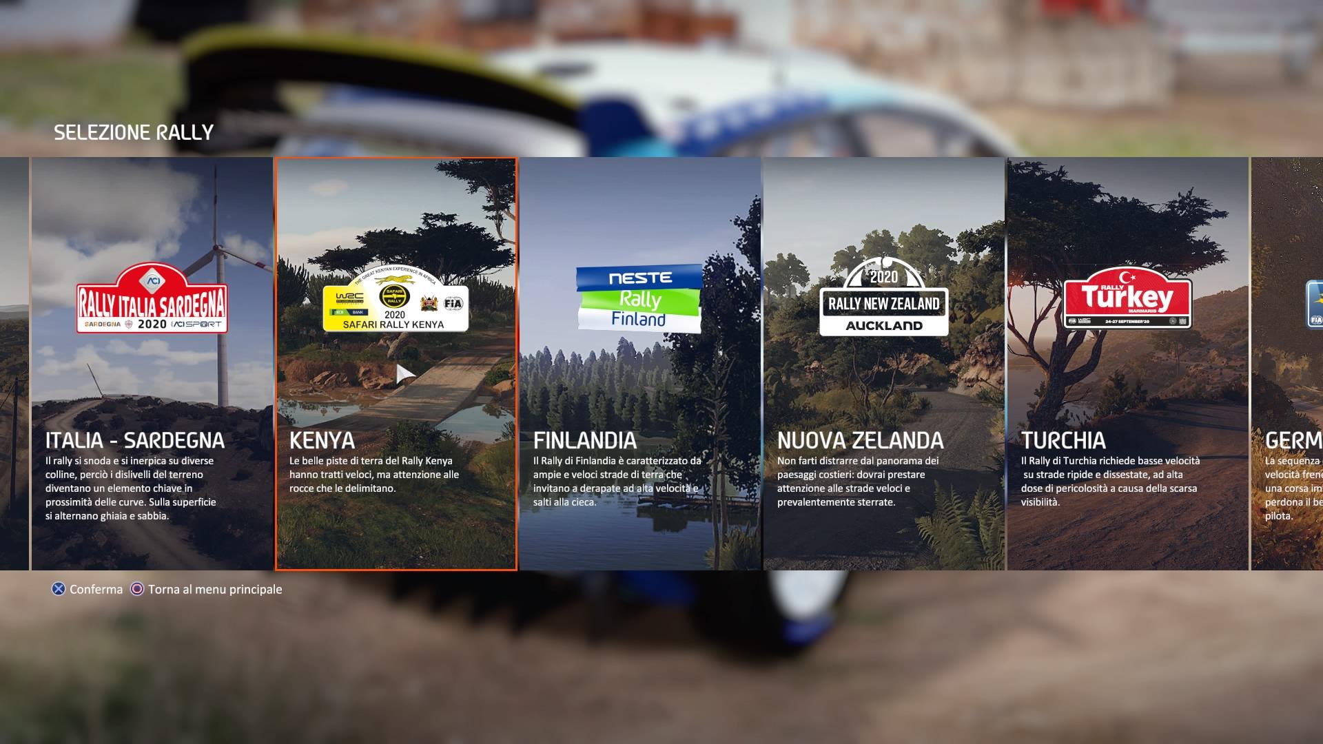 WRC 9 Tappe del mondiale