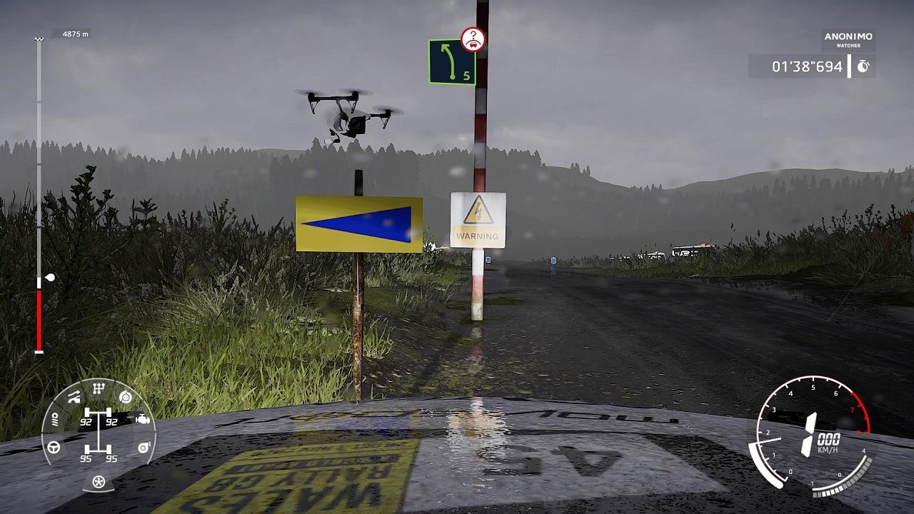 WRC 9 recensione drone