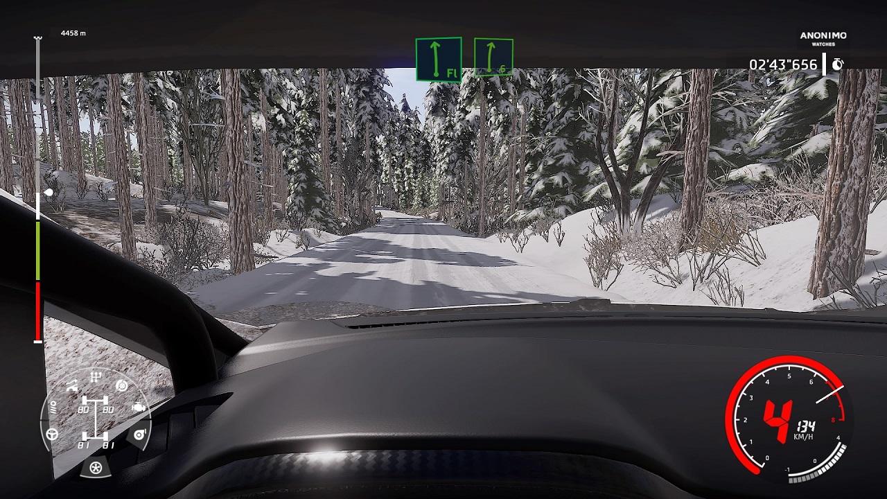 WRC 9 recensione grafica interno