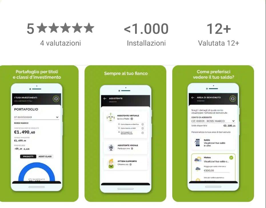 Webank disponibile su Huawei App Gallery