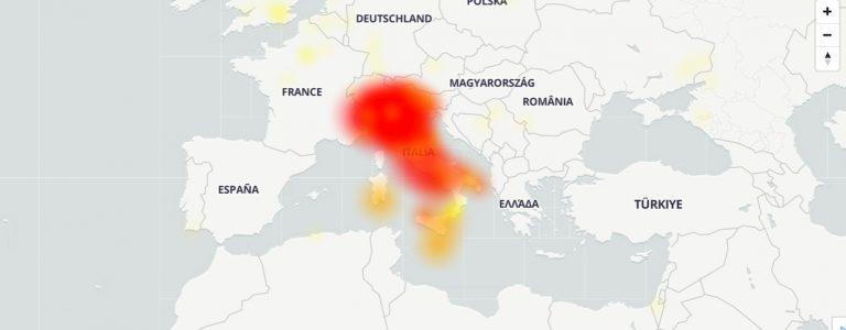 Wikipedia down mappa