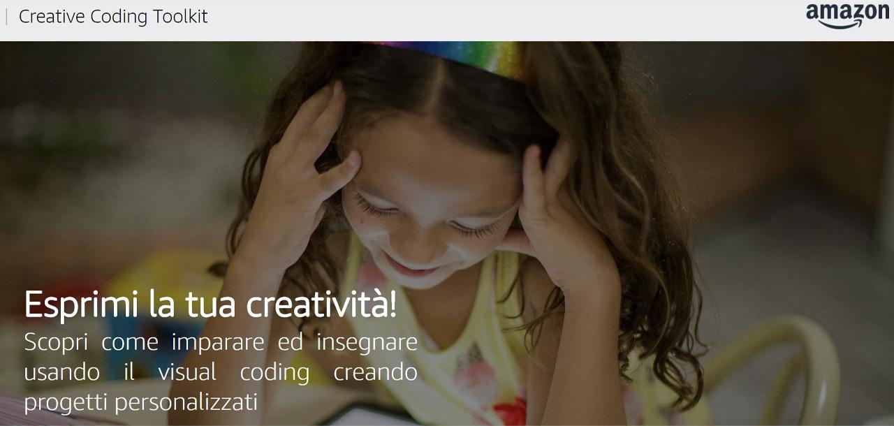 amazon un click per la scuola creative coding toolkit