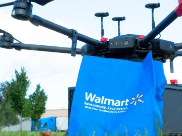 droni amazon walmart