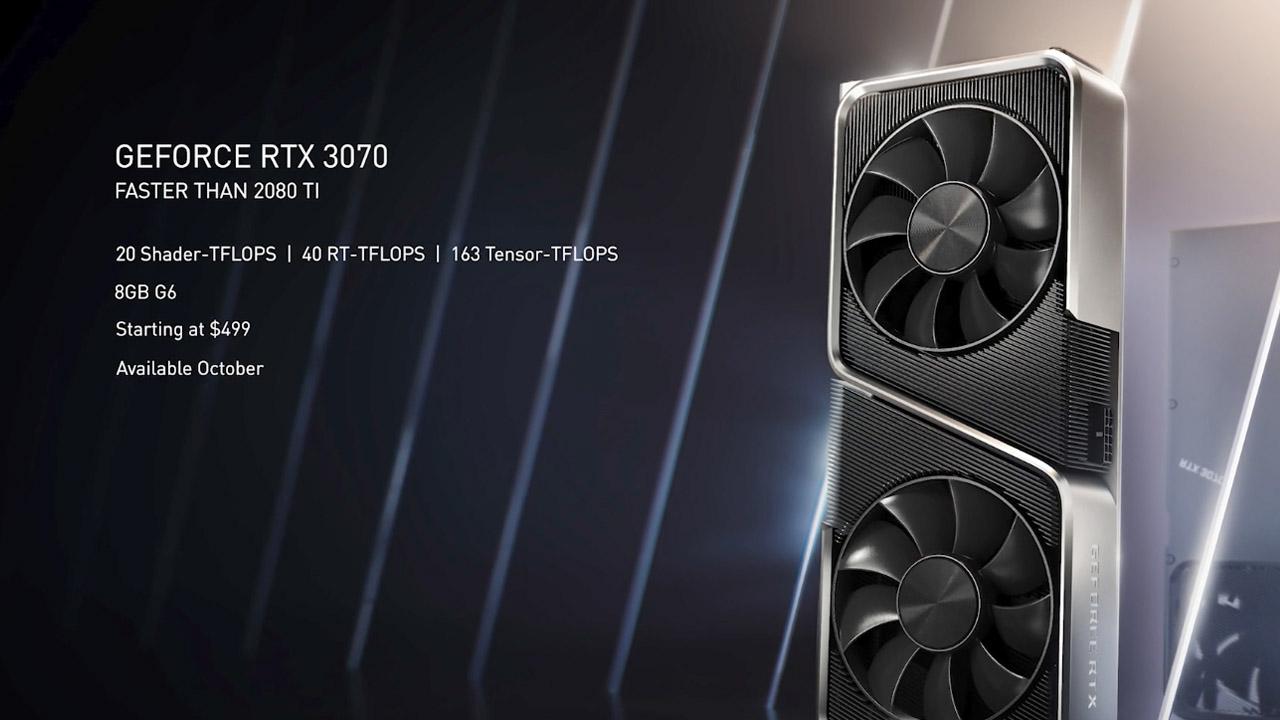 nuova scheda video nvidia geforce rtx 3070