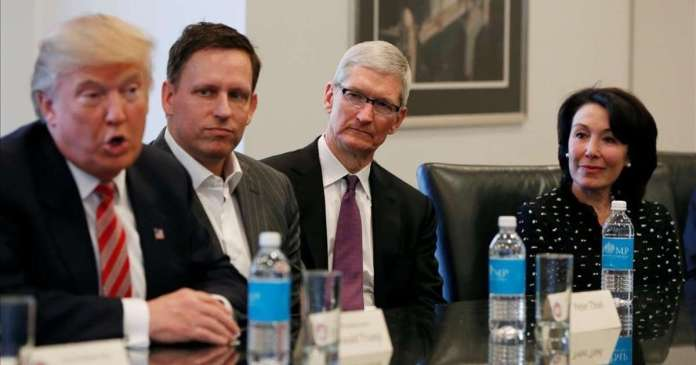 palantir trump thiel tim cook