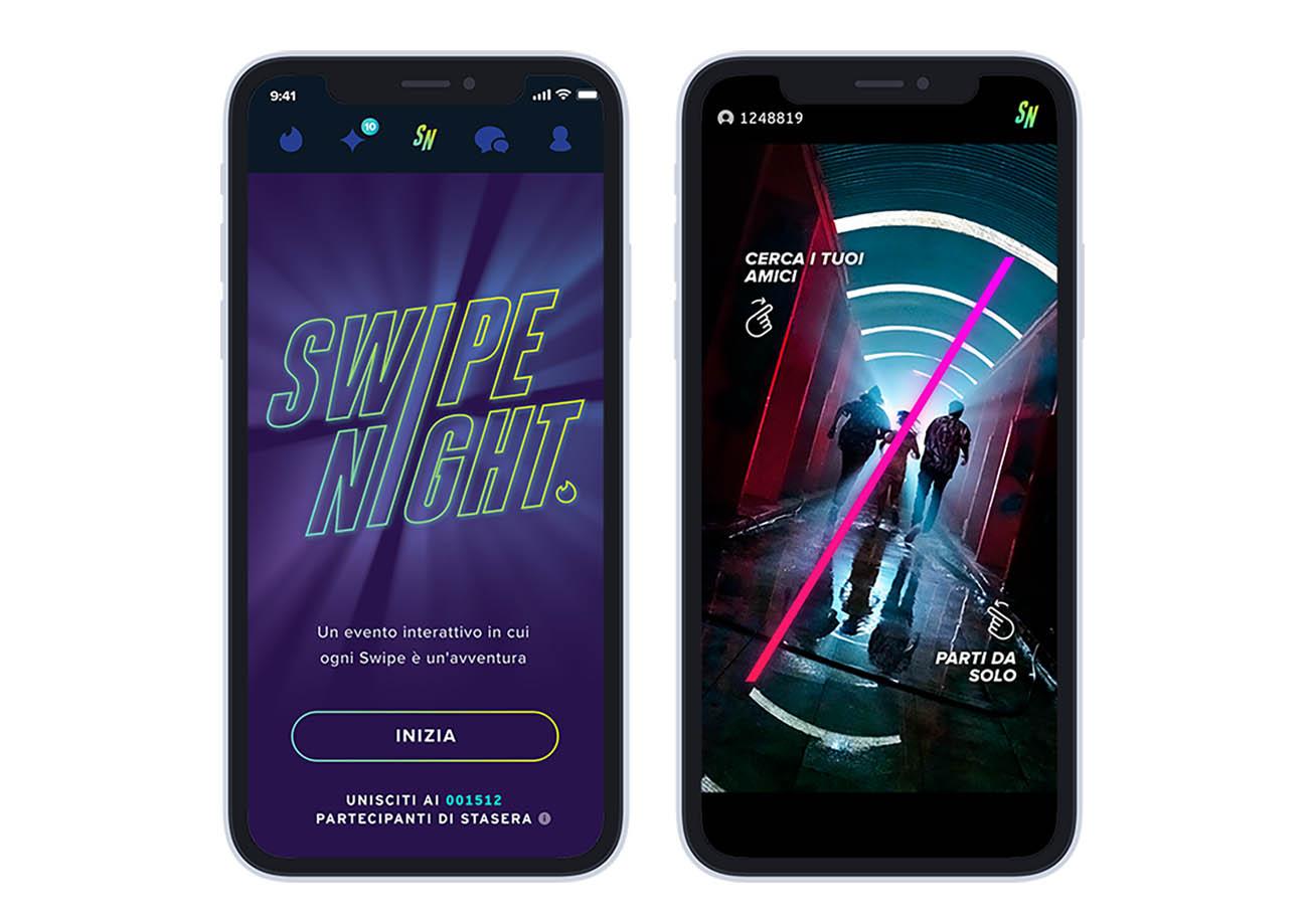 tinder swipe night interattiva