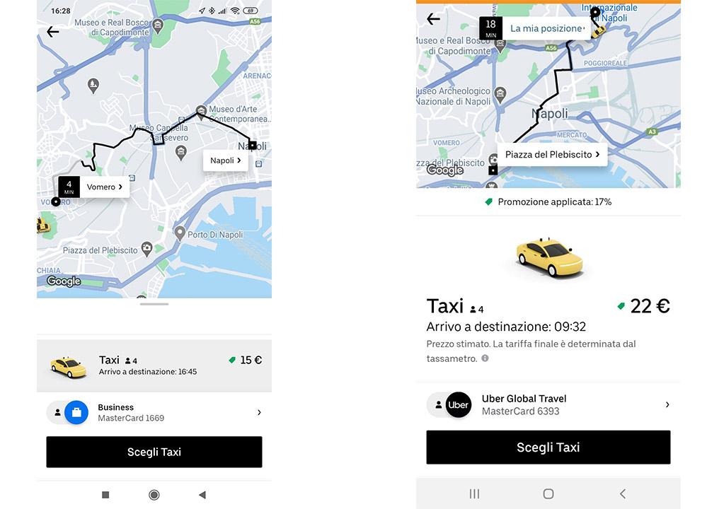 uber taxi napoli