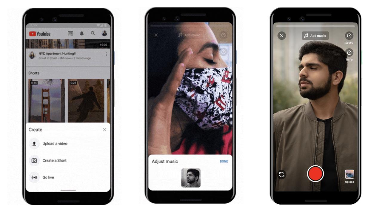 Google sfida TikTok con Youtube Shorts thumbnail