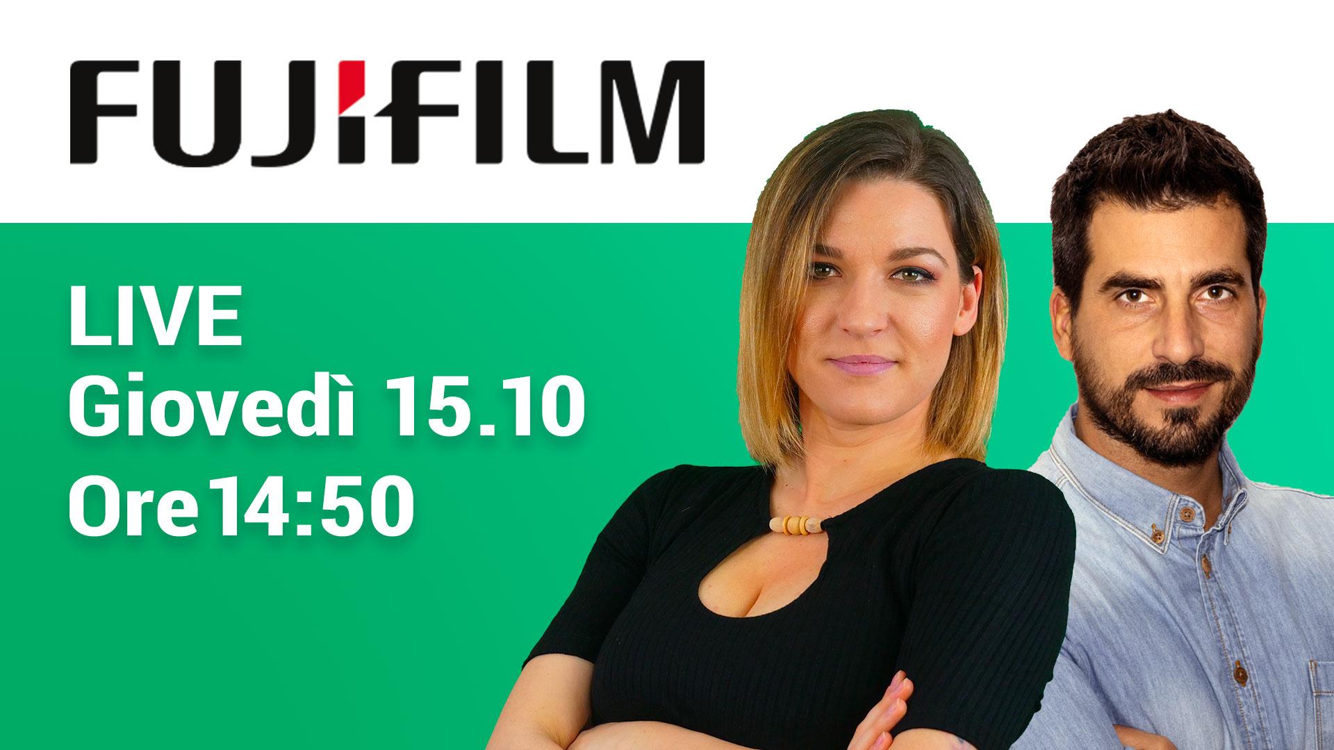 Fujifilm: novità in arrivo il prossimo 15 ottobre thumbnail